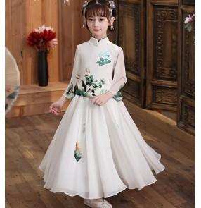Children Girls Chinese hanfu Fairy Princess cosplay show dress for girl Tang suit antique dress cheongsam qipao dress for kids