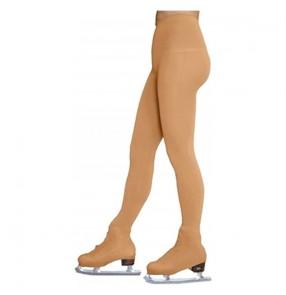 Children girls figure skating stage performance flesh color pants skating show long pantyhose leggings stockings for kids