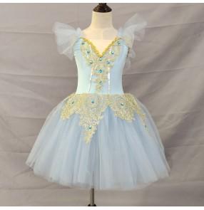 Children girls little Swan Lake pink white yellow red blue tutu skirts Ballet Performance Costume Puffy Tutu Skirt ballet dresses Girls Little Swan Dance Skirt