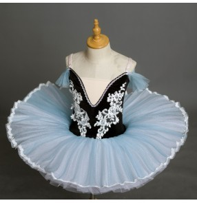 Children light blue purple Little Swan Ballet Dance Performance Costume Professional Swan Lake pancake Sling TUTU Skirt ballerina ballet dance dresses
