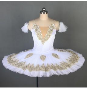 Children little swan lake white tutu skirts ballet dance costumes girls ballerina performance dresses Little swan dance tutu fluffy skirt girls ballet dresses