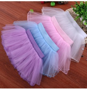 Children modern dance ballet tutu skirts stage performance gymnastics practice dance tulle skirts