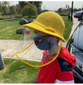 Children's Anti-spray Cap Face Shield Anti-Dust Sunscreen Fisherman's Windscreen Protective Equipment