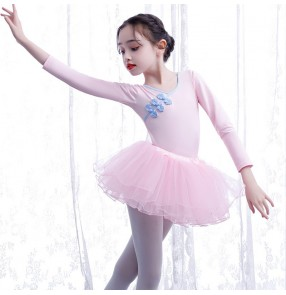 Children's ballet dance dress tutu skirt buckle tutu girls long-sleeved examination practice clothes gyms modern dancing skirt girls