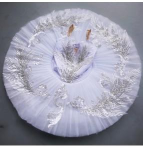 Children's ballet dance tutu skirt ballet dance performance costume girl little swan lake dance costume white ballet tutu skirt for girls