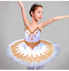 Children's Ballet Tutu Dress Skirt Little Swan dance skirt princess skirt girls' costume martial arts Classic group dance