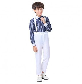 Children's boys Chorus Costumes Performance England style shirt and pants for Boys Dresses Primary Secondary School Students Chorus Performance Costumes