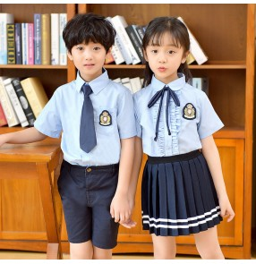 Children's British style school uniforms for boy girls primary kindergarten shcool uniforms chorus stage performance outfits for kids