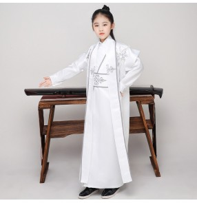 Children's chinese prince Hanfu for boy china ancient style knight boy swordsman knight warrior film cosplay photos shooting costumes