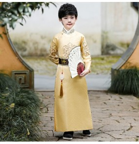Children's chinese tradition Hanfu Boys chinese tang qing Ancient swordsmen Costume Chinese tang Suit Little Prince Boy chinese robe