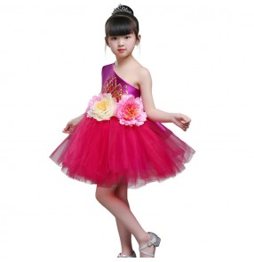 Children's costumes girls modern dance performance costume sequins kindergarten dance skirts primary school dance clothes chorus suit