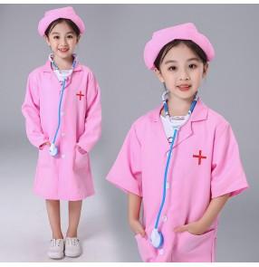 Children's doctor nurse cosplay uniforms baby school show performance costume kindergarten performance clothes