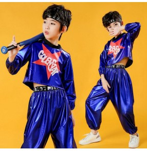 Children's Glitter gogo dancers Jazz Dance Costume Primary school students modern rap dance outfits Boys and girls wear trendy hip-hop performance costumes