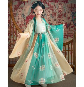 Children's Hanfu costume princess dresses Chinese style skirt big sleeve shirt girl empress dress ancient costume fairy Tang suit
