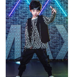 Children's hip-hop suit boys hiphop rap street dance costumes children's jazz dance clothes girls fashion catwalk costumes