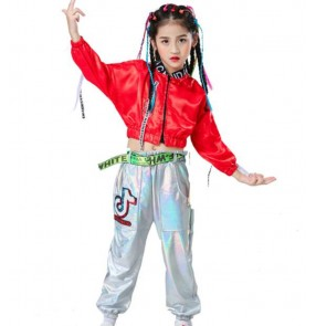 Children's jazz dance hiphop street dance costumes Boys' hip-hop gogo dancers costumes model catwalk girls' cheerleaders performance tops and pants