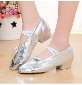 Children's jazz dance shoes girls PU leather belly dance adult ballet gymnastics shoes low heel dancing shoes ballroom dance shoes