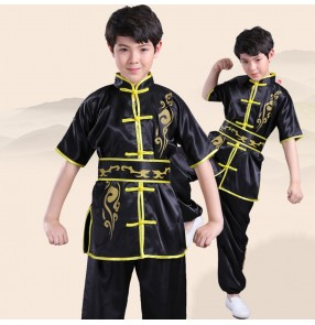 Children's martial arts clothing practice clothing short-sleeved Tai Chi competition Nanquan performance wushu clothing training clothing for boy girls