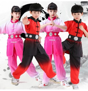 Children's martial arts performance clothing for boy girls tai chi chinese kung fu clothing wushu uniforms for kids