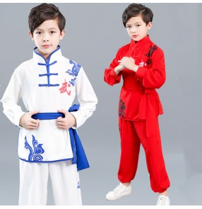 Children's martial arts performance clothing for boys and girls long-sleeved kung fu clothing children primary school students wushu practice taichi uniforms