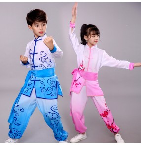 Children's martial arts taichi performance costumes fitness kungfu suit primary middle school students group training uniforms practice clothes