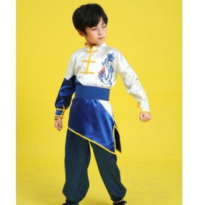 Children's martial arts wushu performance Dragon clothes for boy girls practice clothes Chinese kung fu martial arts clothes stage performances practice clothes