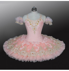 Children's pink professional ballet dresses TUTU skirt girls classical pancake ballerina ballet dance costumes Sleeping Beauty stage costume
