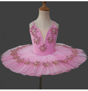Children's pink Tutu skirt Little Swan lake ballet dance dresses for girls Professional Ballet Tutu Skirt Performance ballet dance costume for children