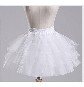 Children's princess dress dance dress petticoat Boneless skirt performance dresses wedding dress tutu underskirt for kids one size