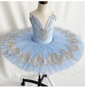Children's Purple Blue tutu skirts ballerina ballet dresses girls Professional Ballet Tutu Little Swan lake pancake Sleeping Beauty ballet Dance Costume