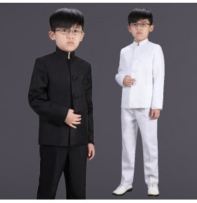 Children's Republic of China style student clothing boys clothes Chinese tunic suit Children's recitation chorus costume