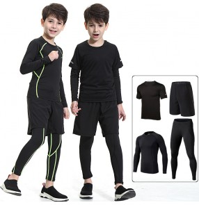 Children's tights running fitness suit boys juninor quick-drying clothes basketball football soccer sports training clothes