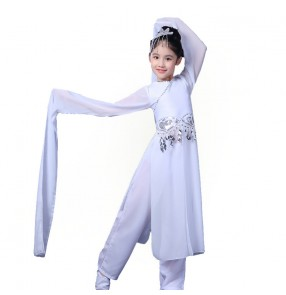 Children's water sleeve chinese classical dance costumes for girls hanfu fairy dress china folk dance performance costumes