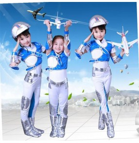 Children sky Dream performance clothing boys astronaut performance suit photos shooting drama cosplay Aerospace space suit performance outfits