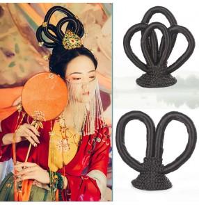 Chinese ancient folk Costume empress fairy cosplay wig Film Television Hanfu dress hair bun Dunhuang Flying dance photos shooting hair wig