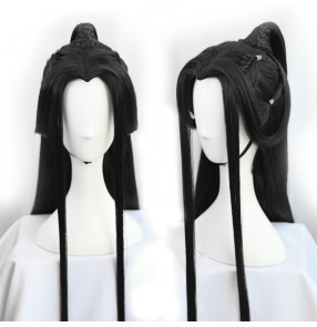 Chinese ancient hanfu drama prince cosplay wig for men warrior swordsmen film cosplay wig