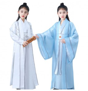 Chinese ancient traditional cosplay hanfu costumes stage performance drama warrior cosplay robes kimonos
