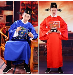 Chinese ancient traditional Ming Dynasty film cosplay official costume for men Male court official minister costume stage performance robes for male