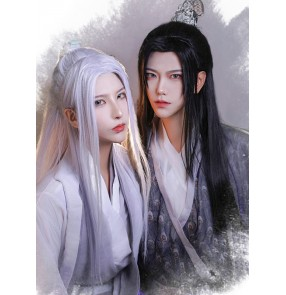 Chinese Antique han ming tang dynasty swordsman cosplay wigs for men women ancient Hanfu fairy photos shooting wig anime drama cosplay wig