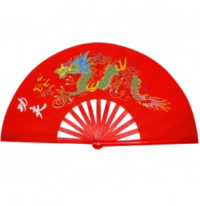 Chinese dragon red black Tai Chi fans kungfu wushu fitness exercises fans for women and men