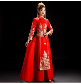 Chinese Dress china chinese wedding party qipao dress oriental style retro cheongsam dress model show photography dress
