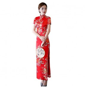Chinese dress china traditional qipao dress oriental style cheongsam dress miss etiquette model show performance dress