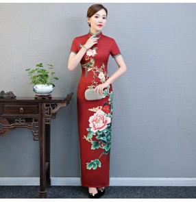 Chinese dress traditional chinese qipao dresses for women oriental evening party dress stage performance model evening cheongsam dresses