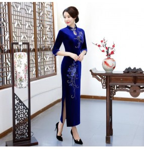 Chinese dresses qipao dress oriental style chinese traditional cheongsam dresses performance dresss