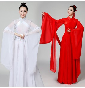 Chinese folk dance costumes ancient traditional ancient Classical dance fairy cosplay costume Hanfu dance costume fairy dress