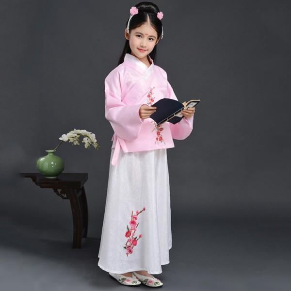 3e50761b9 Chinese folk dance costumes for girls children kids ancient traditional  hanfu tang princess photos performance anime drama cosplay dress robes