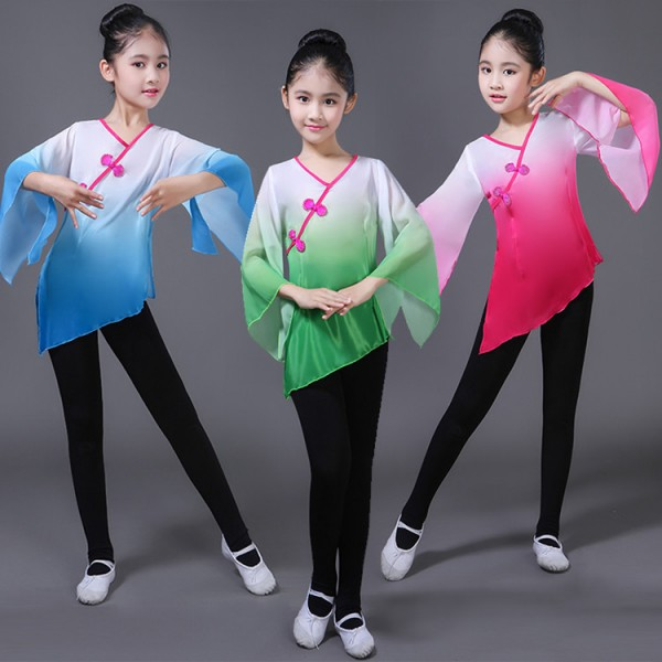 abd0268e3 Chinese folk dance costumes Girls classical dance ancient traditional ...