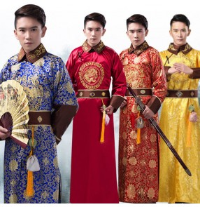 Chinese folk dance costumes Qing dynasty costume male Belle elder brother costume swordsman warrior prince robe emperor knight costume film and television photography costume