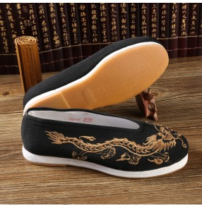Chinese folk dance dragon ancient drama cosplay flats printed flats comfortable fitness martial art stage performance shoes