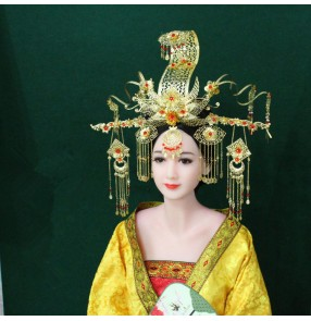 Chinese folk dance hair accessories empress queen photos drama fairy cosplay stage performance hair clip